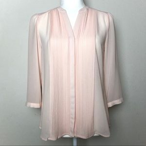 H&M Blush Pink Pleated Blouse